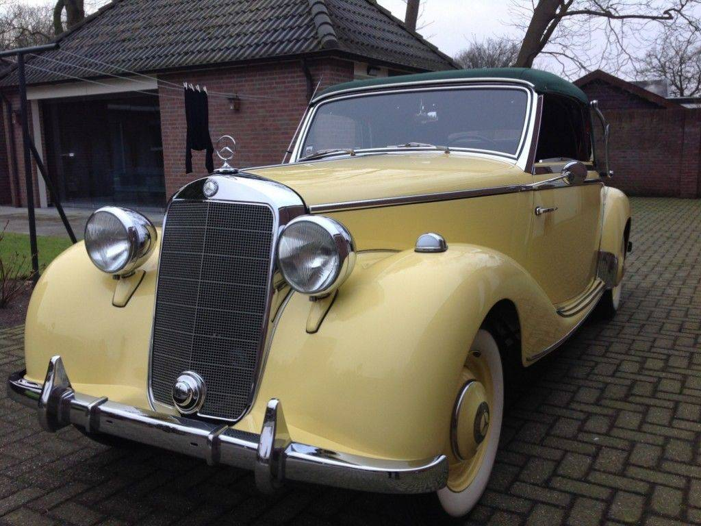 for sale mercedes benz 170 s cabriolet a 1951 offered. Black Bedroom Furniture Sets. Home Design Ideas