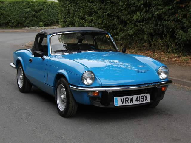 For Sale Triumph Spitfire 1500 1980 Offered GBP 10995
