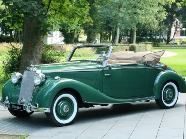 for sale mercedes benz 170 s cabriolet a 1951 offered for gbp 131 425. Black Bedroom Furniture Sets. Home Design Ideas